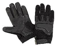 Gants d'intervention Kevlar noir.