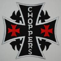 Ecusson CHOPPERS croix malte GM.