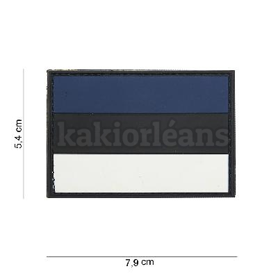 Patch 3D PVC Drapeau Estonie