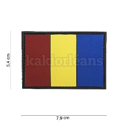 Patch 3D PVC Drapeau Roumanie