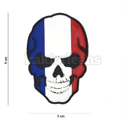 Patch 3D Tete de mort France